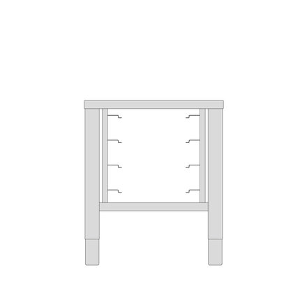 Maxima Table for Compact Steamer 10X 1/1 GN