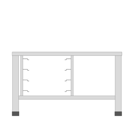 Maxima Table for Steamer 11X 1/1 GN