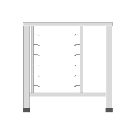 Maxima Table for Steamer 3X + 4X 1/1 GN