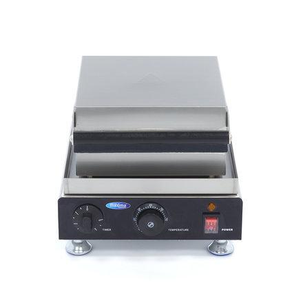 Maxima Mini Gastro Waffeleisen Quadratische Waffel - 4 Stück - 113 x 14 x 113 mm (je Waffel) - mit Timer - 1750 Watt