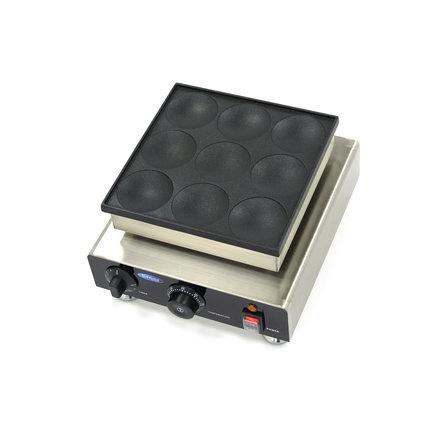 Maxima American Pancake Hot Plate - 9 Stück - Ø 80 x 10 mm - mit Timer - 900 Watt