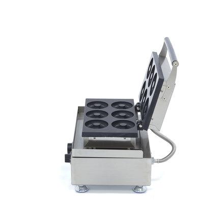 Maxima Gastro Donut-Maschine Mini - 6 Stück - Ø 80 x 30 mm - mit Timer - 1750 Watt