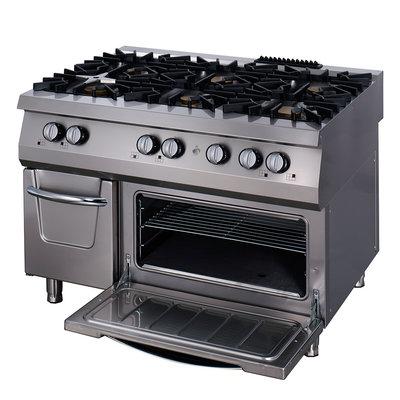 Maxima Premium fornuis - 6 Pitten - Inclusief Oven - Gas