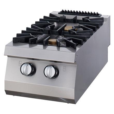 Maxima Gastro Kochfeld - Gas - 400 x 900 mm tief - 2 Brenner - 16000 Watt