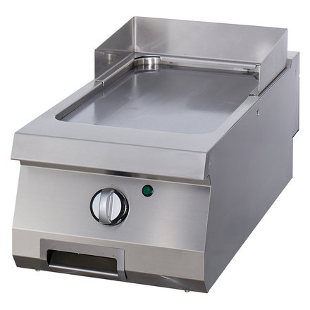 Maxima Gastro Grillplatte Einzel - Glatt - Elektrisch - 400 x 900 mm tief - mit Spritzschutz - 6000 Watt