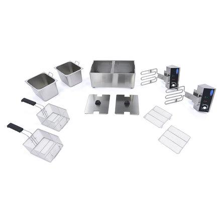 Maxima Gastro Fritteuse - Elektrisch - 2 x 8 l Öl - 2 x 3250 Watt
