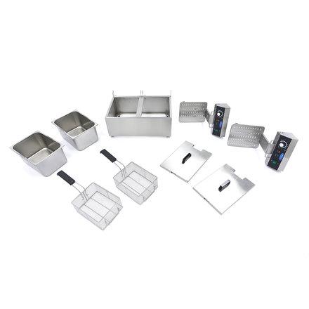 Maxima Gastro Fritteuse - Elektrisch - 2 x 11 l Öl - 2 x 3000 Watt