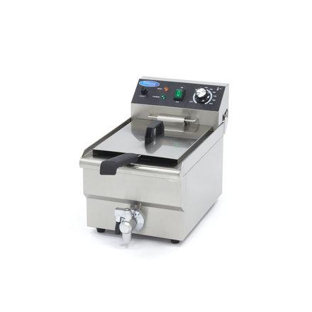 Maxima Gastro Fritteuse - Elektrisch - 1 x 10 Öl - mit Ablasshahn - 3000 Watt
