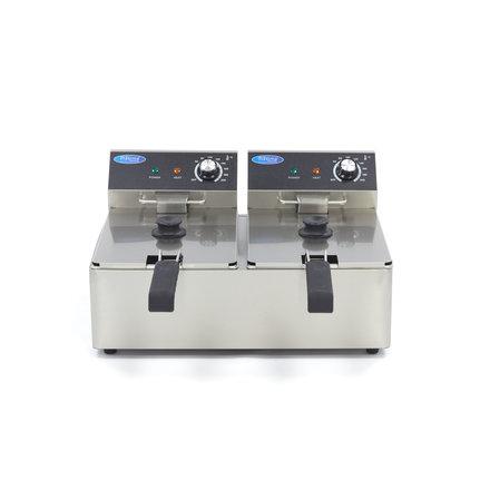Maxima Gastro Fritteuse - Elektrisch - 2 x 6 l Öl - 2 x 3000 Watt
