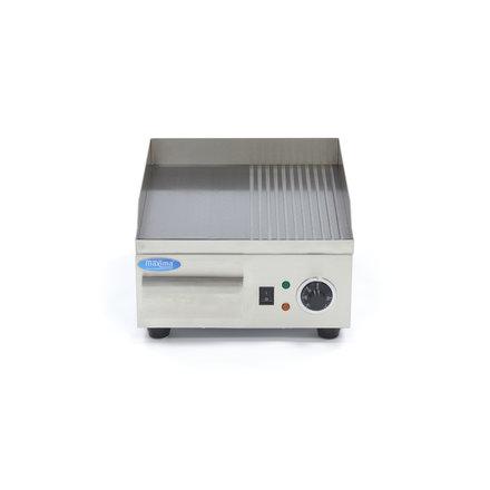 Maxima Gastro Grillplatte - Halb/Halb - 36 cm - mit Spritzschutz - 2000 Watt