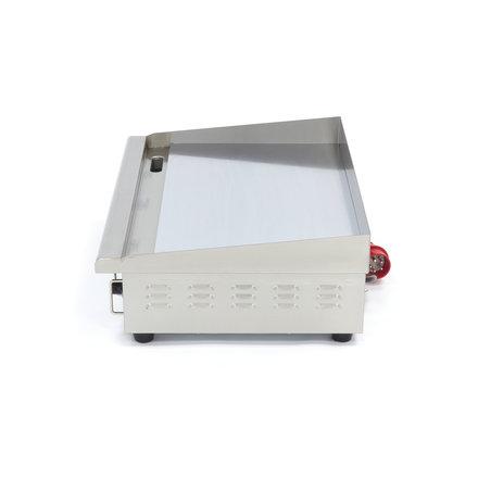 Maxima Gastro Grillplatte - Chrom - Glatt - 73 cm - mit Spritzschutz - 4400 Watt - 400 V