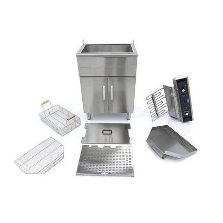Maxima Fritteuse 30L - mit Wasserhahn und Schränke