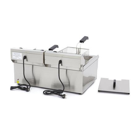 Maxima Elektrisch Fritteuse 2 x 16.L mit Wasserhahn