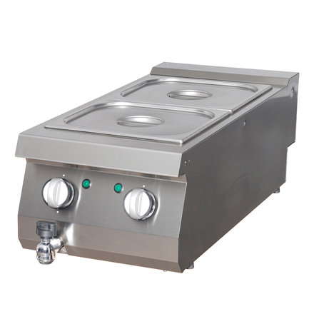 Maxima Bain-Marie Einzel - Elektrisch - 400 x 900 mm tief - mit Ablasshahn - 1000 Watt