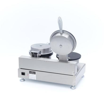 Maxima Gastro Waffeleisen Eistüte - 2 Stück - Ø 210 mm (je Waffel) - mit Timer - 2000 Watt