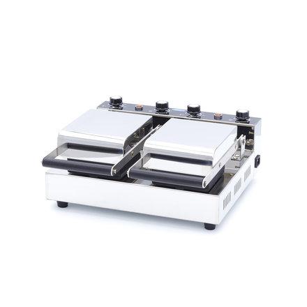 Maxima Gastro Waffeleisen Gelato Panini - 2 Stück - Ø 100 mm (je Waffel) - mit Timer - 1200 Watt