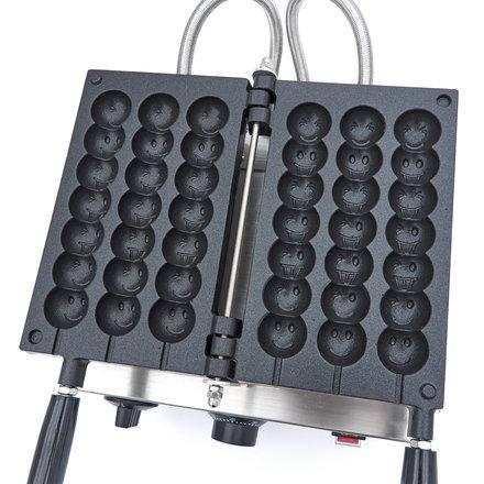 Maxima Waffeleisen Lutscher Waffel Emoji am Stiel - 3 Stück
