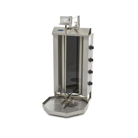 Maxima Döner Kebab / Gyros / Shawarma Grill - 4 Brenner - Elektrisch - 50 kg - Motor an der Spitze - 6800 Watt