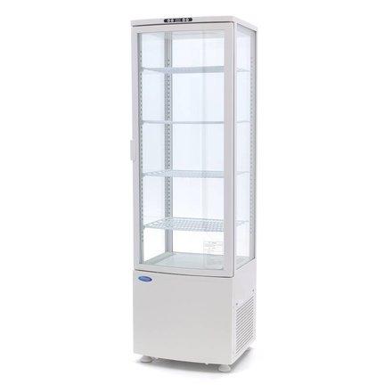 Maxima Kühlvitrine Mini - Weiß - 235 l - 0 bis 12 °C - 250 Watt