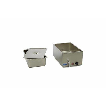 Maxima Bain-Marie - 1 x 1/1 GN - 45 bis 90 °C - mit Behälter und Ablasshahn - 1200 Watt