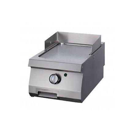 Maxima Gastro Grillplatte Einzel - Glatt - Gas - 400 x 700 mm tief - mit Spritzschutz - 7000 Watt - Heavy Duty