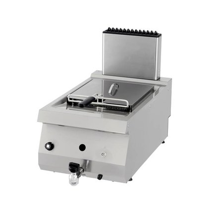 Maxima Gastro Fritteuse - Gas - 1 x 12 l Öl - mit Ablasshahn - 1 x 10000 Watt - Heavy Duty