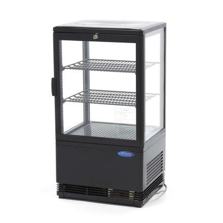 Maxima Kühlvitrine Mini - Schwarz - 58 l - 0 bis 12 °C - 180 Watt