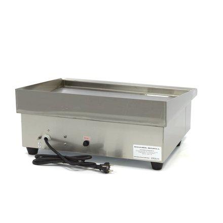 Maxima Gastro Grillplatte - Glatt - 55 cm - mit Spritzschutz - 3000 Watt