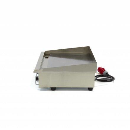 Maxima Gastro Grillplatte - Glatt - 73 cm - mit Spritzschutz - 4400 Watt - 400 V