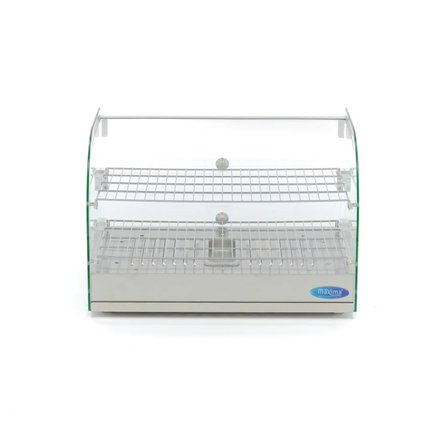 Maxima Stainless Steel Hot Display - 2 Levels - 55 cm - 45L