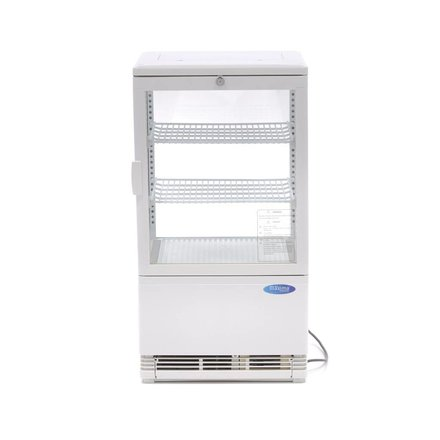Maxima Kühlvitrine Mini - Weiß - 58 l - 0 bis 12 °C - 180 Watt