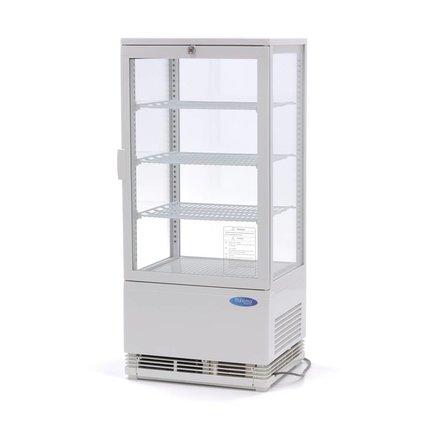 Maxima Kühlvitrine - Weiß - 78 l - 0 bis 12 °C - 180 Watt