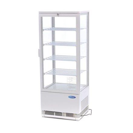 Maxima Kühlvitrine Mini - Weiß - 98 l - 0 bis 12 °C - 180 Watt