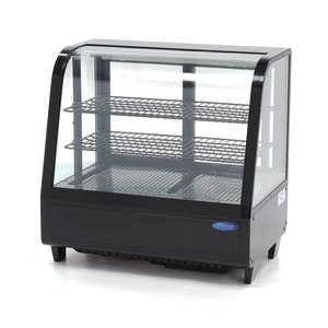 Maxima Refrigerated Showcase 100L Black