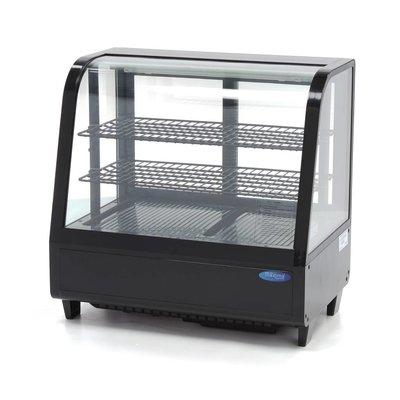 Maxima Refrigerated Showcase 100L Black