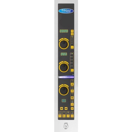 Maxima Gastro Backofen Digital - 600 x 400 mm - 10 Bleche - 10 Dampfstufen - 50 bis 270 °C - 16000 Watt