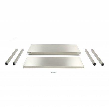 Maxima Gastro Arbeitstisch - 2000 x 600 mm tief - Edelstahl - 150 bis 200 kg