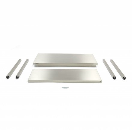 Maxima Stainless Steel Workbench 'Deluxe' 1400 x 600 mm