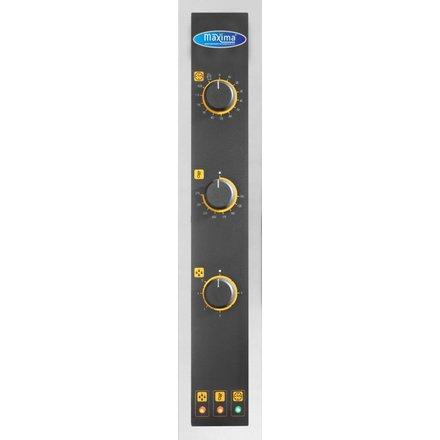 Maxima Gastro Backofen - 600 x 400 mm - 6 Bleche - mit Dampffunktion - 0 bis 275 °C - 8400 Watt