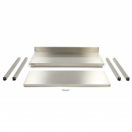 Maxima Gastro Arbeitstisch mit Aufkantung - 600 x 600 mm tief - Edelstahl - 150 bis 200 kg