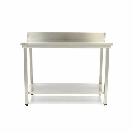 Maxima Stainless Steel Workbench 'Deluxe' with backsplash 800 x 600 mm