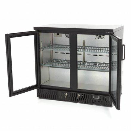Maxima Barkühlschrank Flaschenkühler - Schwarz - 227 l - 0 bis 12 °C - mit 2 Drehtüren - 200 Watt