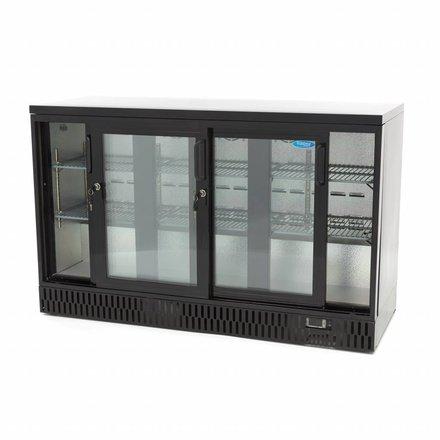 Maxima Barkühlschrank Flaschenkühler - Schwarz - 341 l - 0 bis 12 °C - mit 3 Schiebetüren - 250 Watt