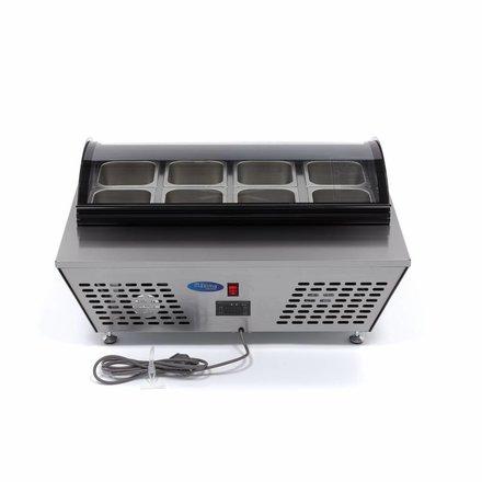 Maxima Saladette Mini - Gekühlt - 67 l - 8 x 1/6 oder 4 x 1/3 - 0 bis 10 °C - 110 Watt