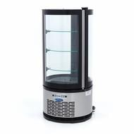 Maxima Pastel de exhibidores refrigerados 100L Negro
