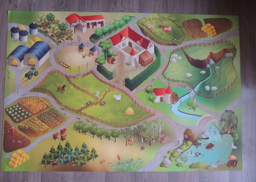 Speelmat of speelkleed OP DE BOERDERIJ - Boerderij Speeltapijt