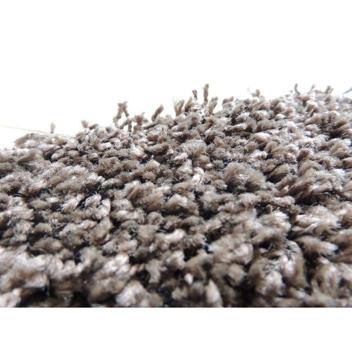 Hoogpolig vloerkleed bruin 30 mm