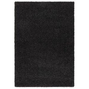 Hoogpolig vloerkleed zwart 30 mm