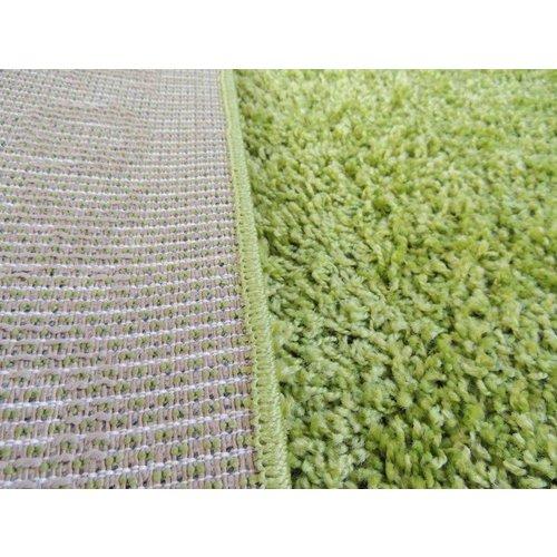 Hoogpolig vloerkleed groen 30 mm