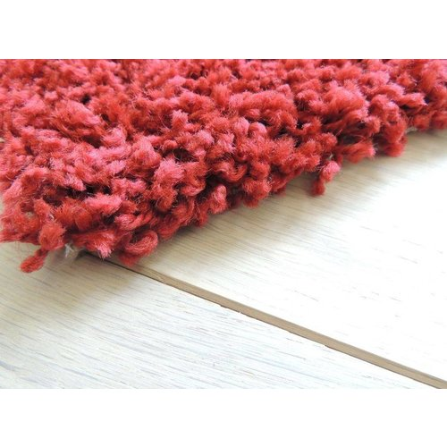 Hoogpolig vloerkleed rood 30 mm